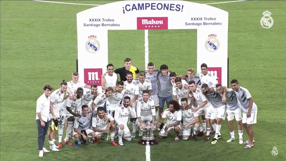 بالفيديو: ريال مدريد يتوج بكأس سانتياغو بيرنابيو على حساب ميلان