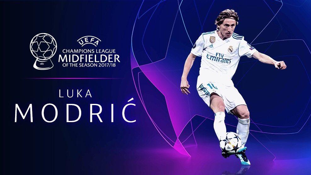 رسمياً … لوكا مودريتش يفوز بجائزة أفضل لاعب وسط في أوروبا