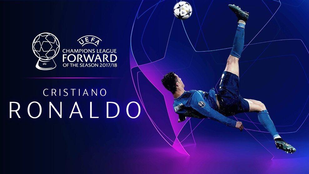 رسمياً … كريستيانو رونالدو يفوز بجائزة أفضل مهاجم في أوروبا