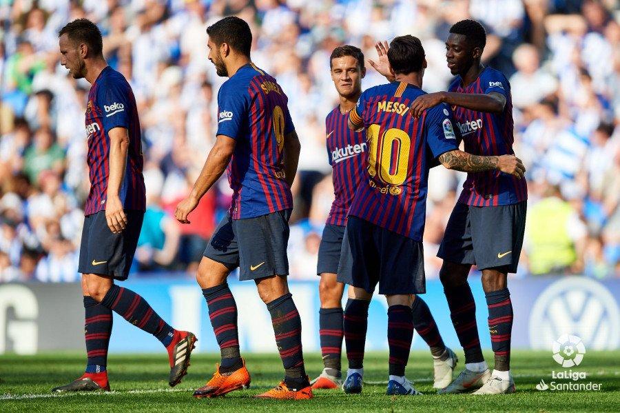 أهداف مباراة برشلونة وريال سوسيداد 2-1 الدوري الإسباني