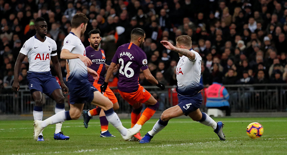 أهداف مباراة مانشستر سيتي وتوتنهام 1-0 الدوري الإنجليزي