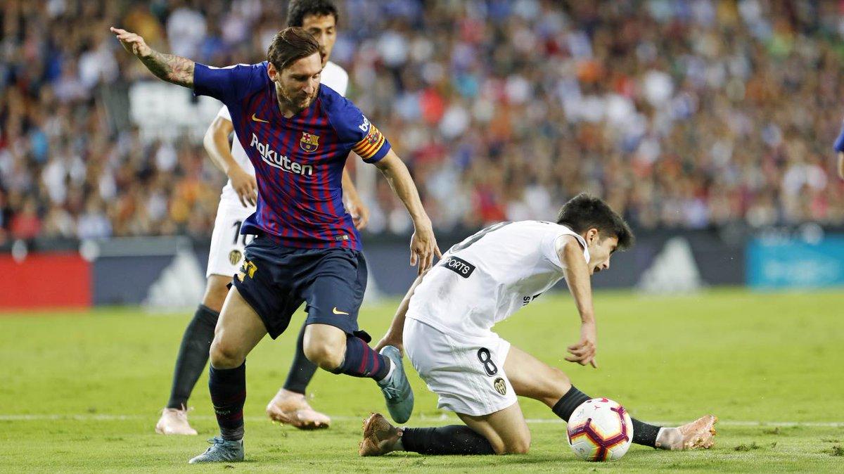 اهداف مباراة برشلونة وفالنسيا 1-1 الدوري الإسباني