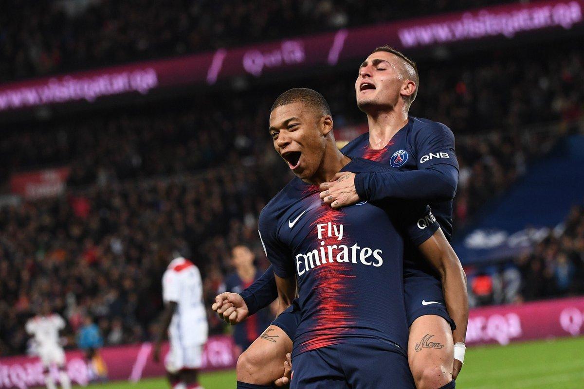 أهداف مباراة باريس سان جيرمان وليون 5-0 الدوري الفرنسي
