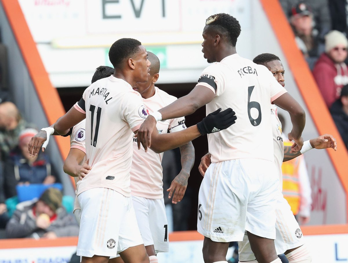 أهداف مباراة مانشستر يونايتد وبورنموث 2-1 الدوري الإنجليزي