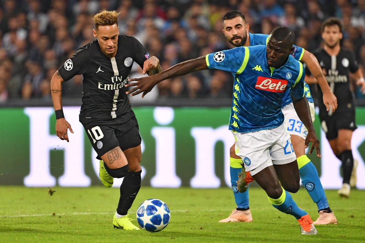 أهداف مباراة نابولي وباريس سان جيرمان 1-1 دوري الأبطال