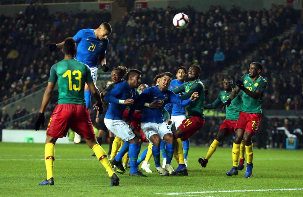 أهداف مباراة البرازيل والكاميرون 1-0 مباراة ودية