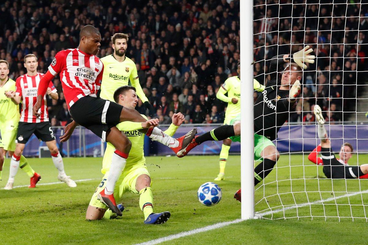 أهداف مباراة برشلونة أيندهوفين 2-1 دوري الأبطال