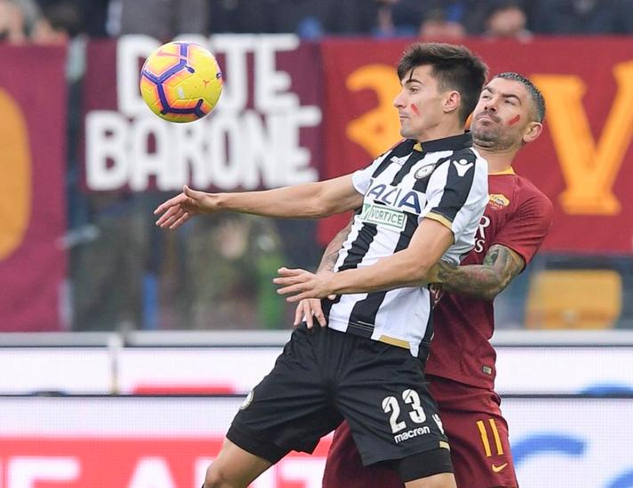 أهداف مباراة أودينيزي وروما 1-0 الدوري الإيطالي