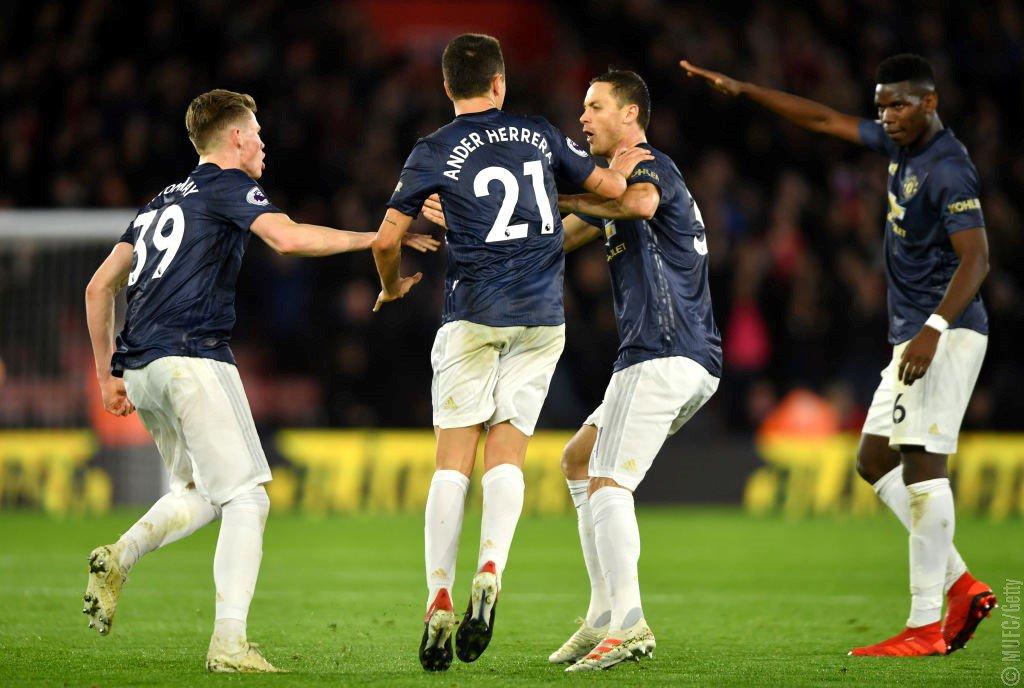 أهداف مباراة مانشستر يونايتد وساوثهامبتون 2-2 الدوري الإنجليزي
