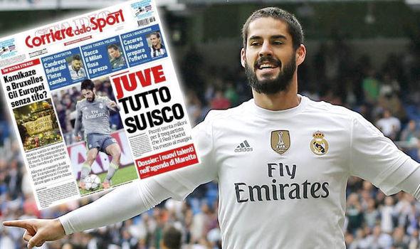 يوفنتوس يخطط لإنقاذ إيسكو من جحيم ريال مدريد