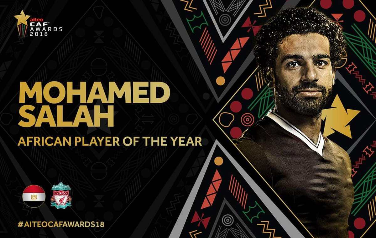 رسمياً … محمد صلاح يُتوج بجائزة أفضل لاعب في أفريقيا 2018