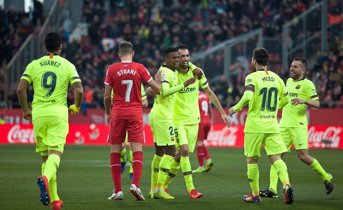 أهداف مباراة برشلونة وجيرونا 2-0 الدوري الإسباني