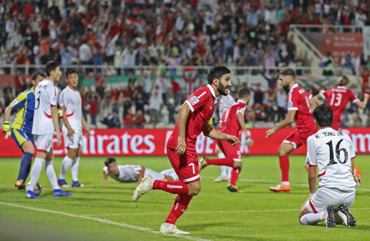أهداف مباراة لبنان وكوريا الشمالية 4-1 كأس أسيا 2019
