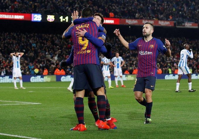 أهداف مباراة برشلونة وليجانيس 3-1 الدوري الإسباني