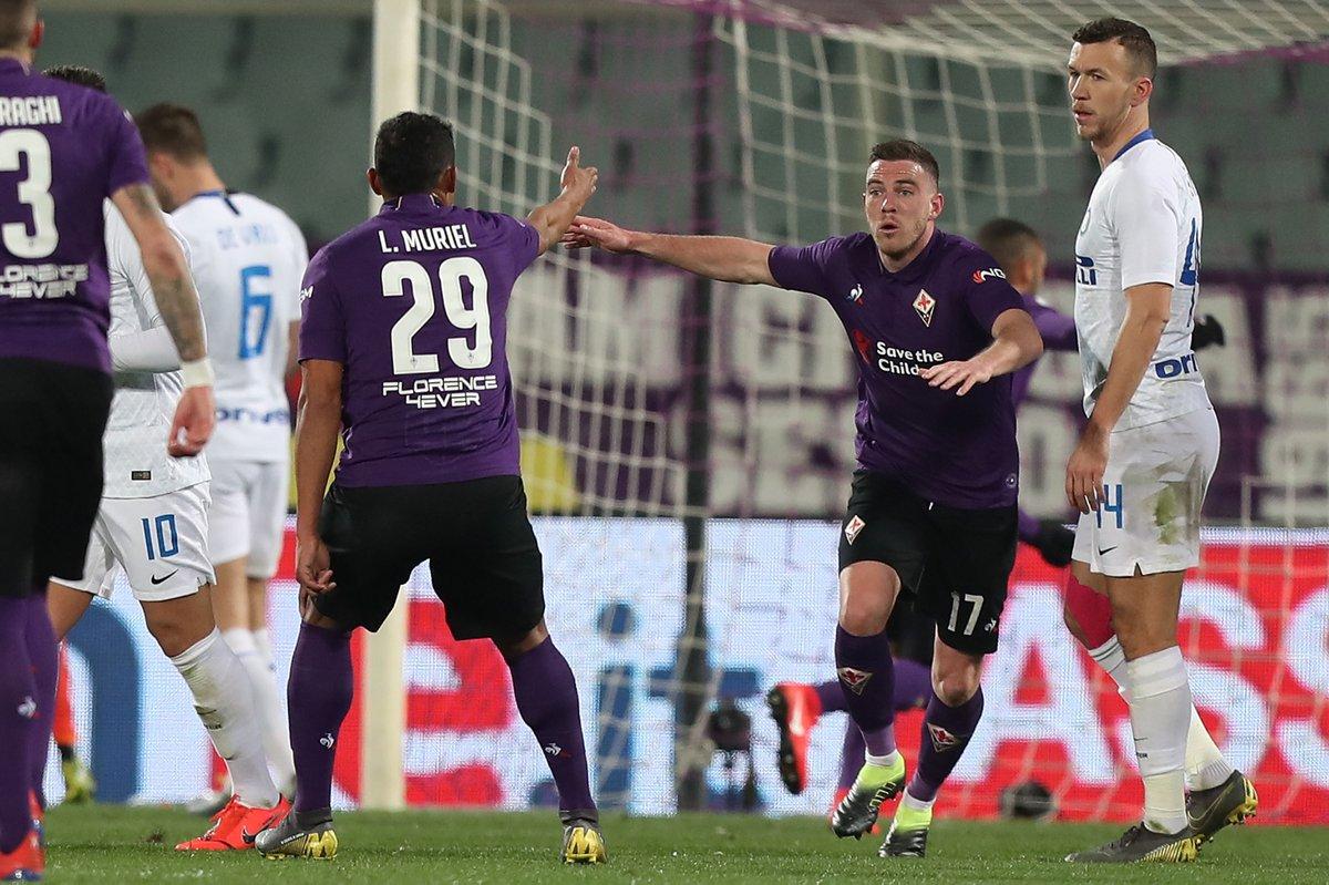 أهداف مباراة فيورنتينا وإنتر ميلان 3-3 الدوري الإيطالي