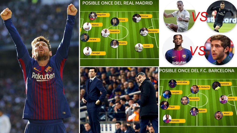تشكيلة كلاسيكو الأرض المتوقعة بين ريال مدريد وبرشلونة