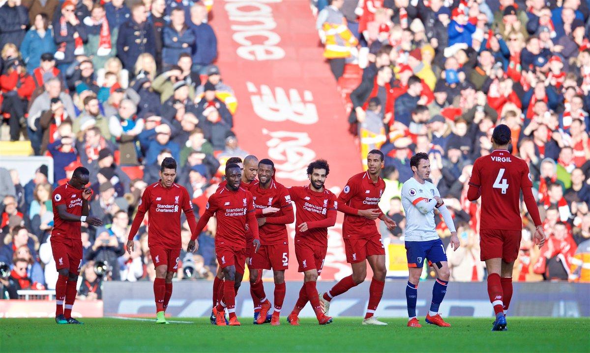 أهداف مباراة ليفربول وبورنموث 3-0 الدوري الإنجليزي