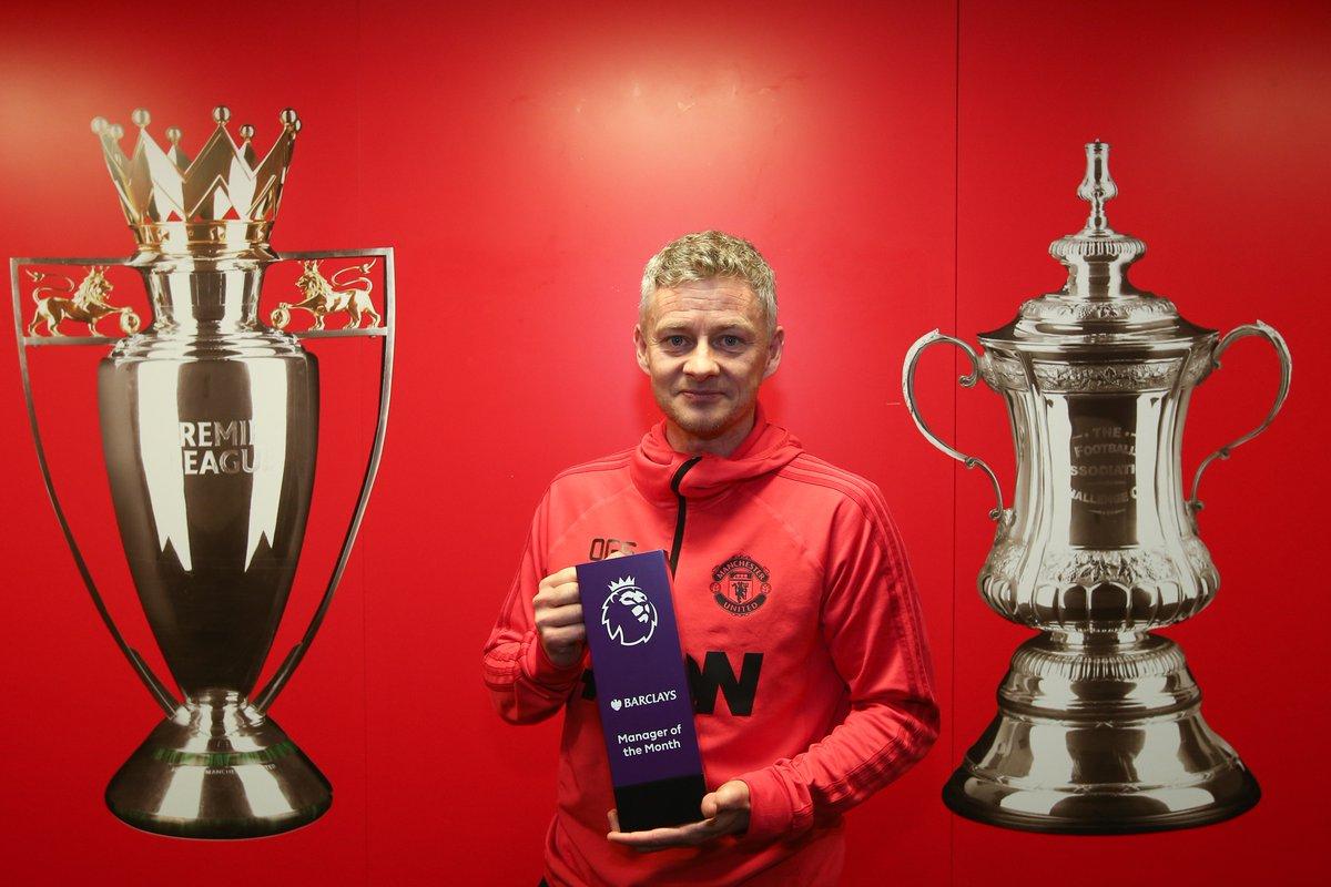 رسمياً … سولشاير يفوز بجائزة مدرب الشهر بالدوري الإنجليزي