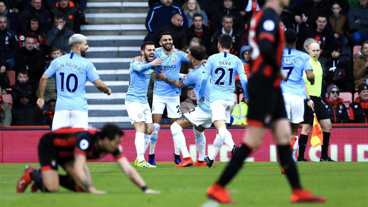 أهداف مباراة مانشستر سيتي وبرونموث 1-0 الدوري الإنجليزي