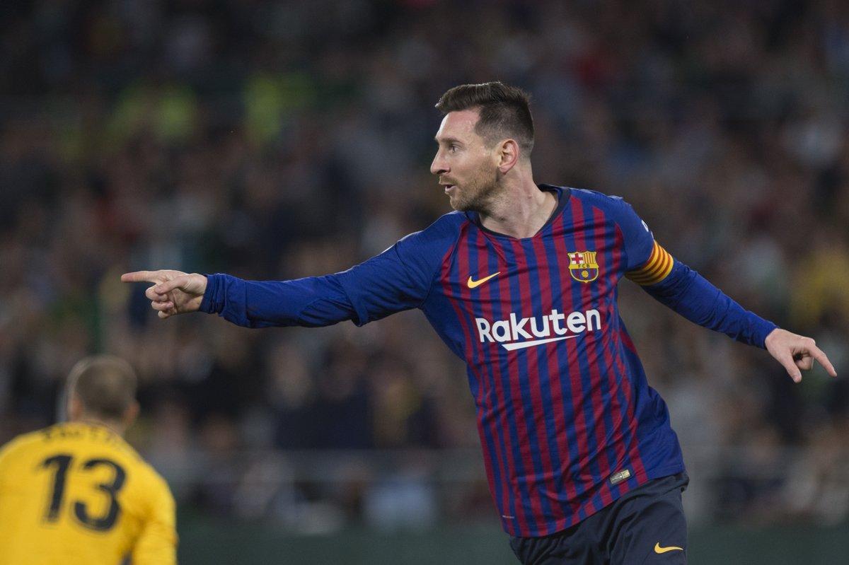 ميسي يقود برشلونة لاكتساح ريال بيتيس برباعية