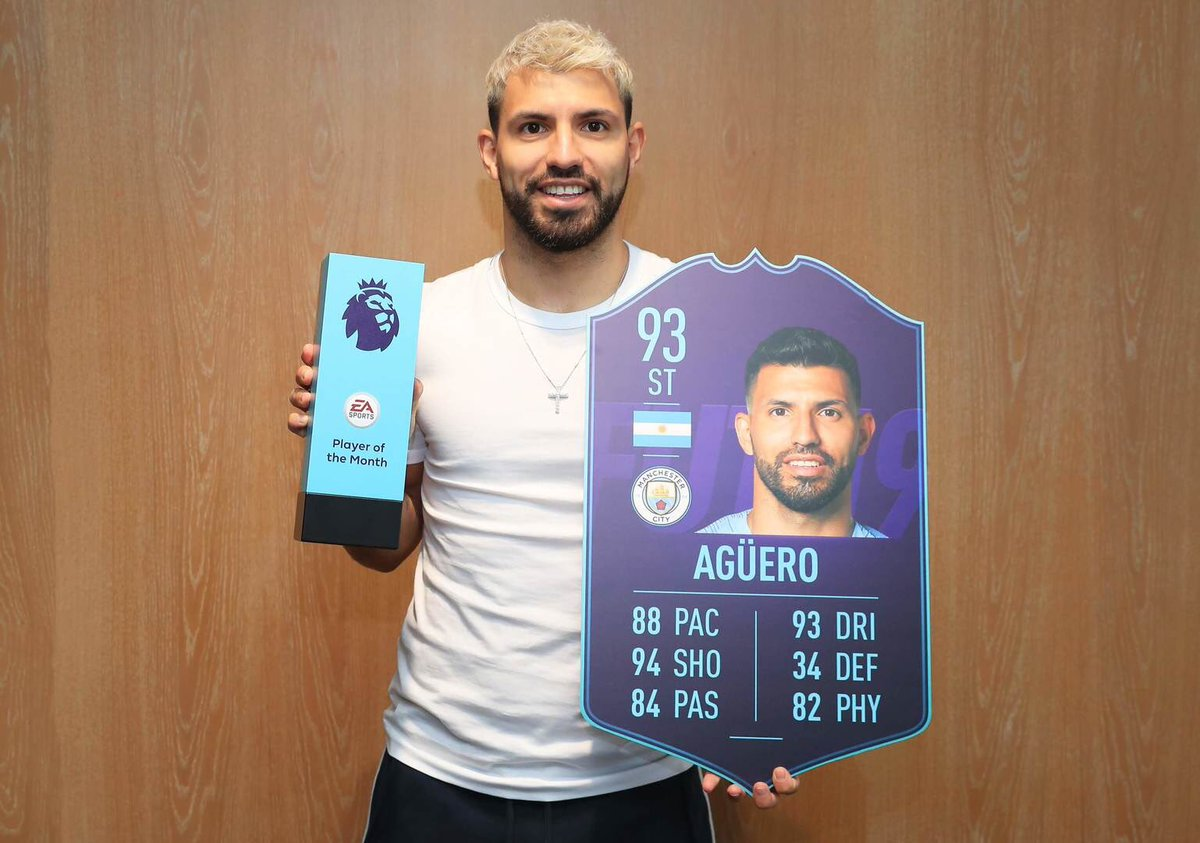 رسمياً … أغويرو لاعب الشهر في الدوري الإنجليزي