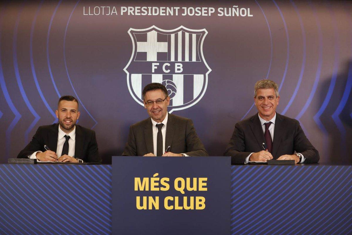 رسمياً … برشلونة يجدد تعاقده مع جوردي ألبا حتى 2024