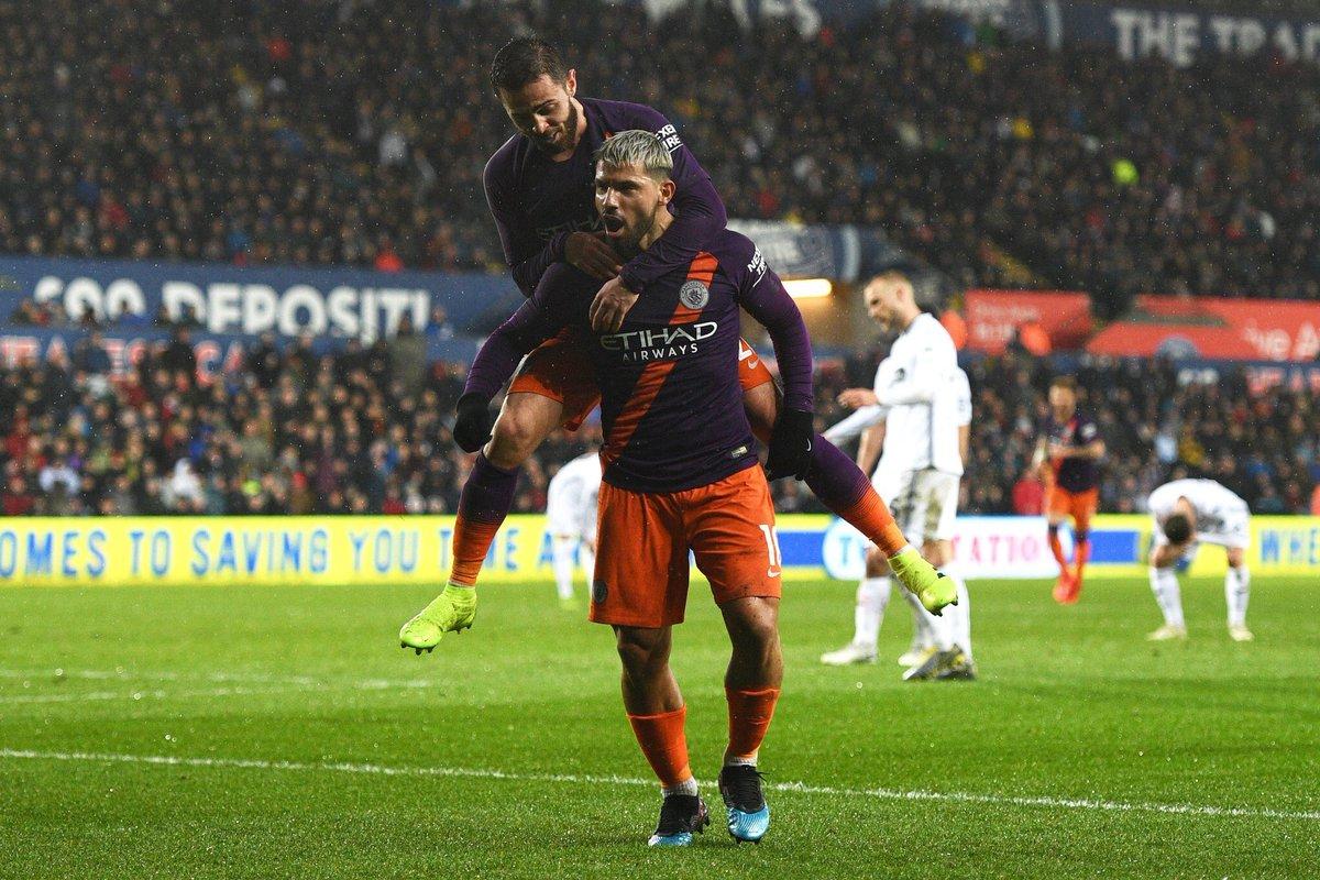 مانشستر سيتي يتأهل إلى نصف نهائي كأس الاتحاد على حساب سوانزي