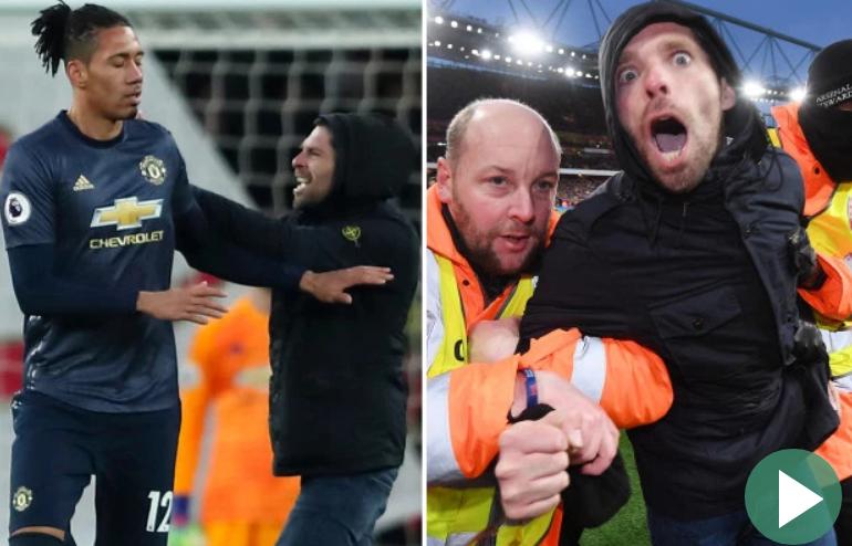 شاهد … مشجع يعتدي على مدافع مانشستر يونايتد