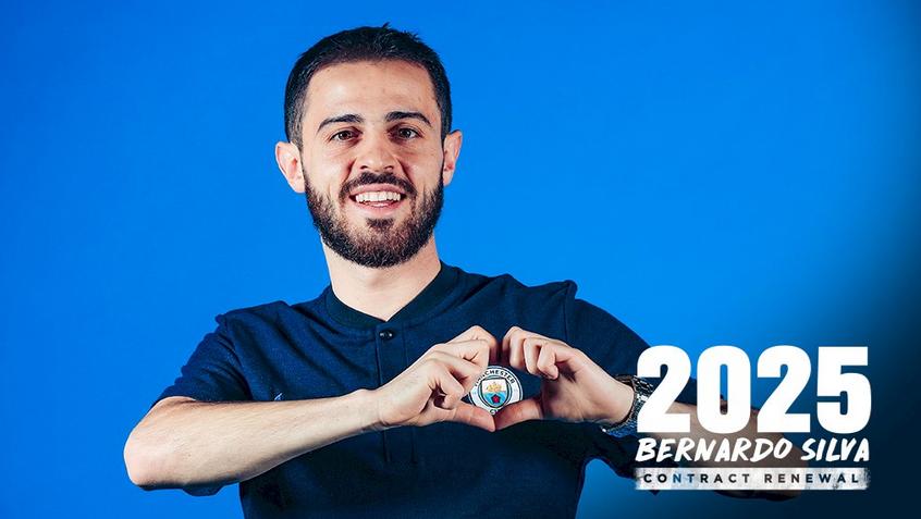 رسمياً … برناردو سيلفا يمدد تعاقده مع سيتي حتى 2025