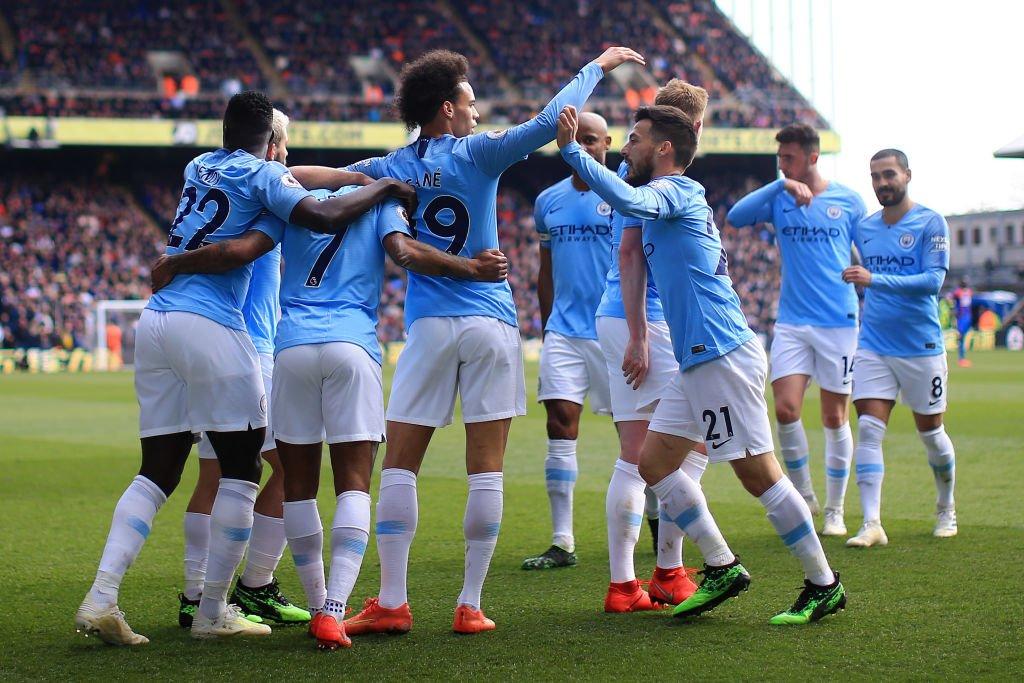 مانشستر سيتي يهزم كريستال بالاس في الدوري الإنجليزي