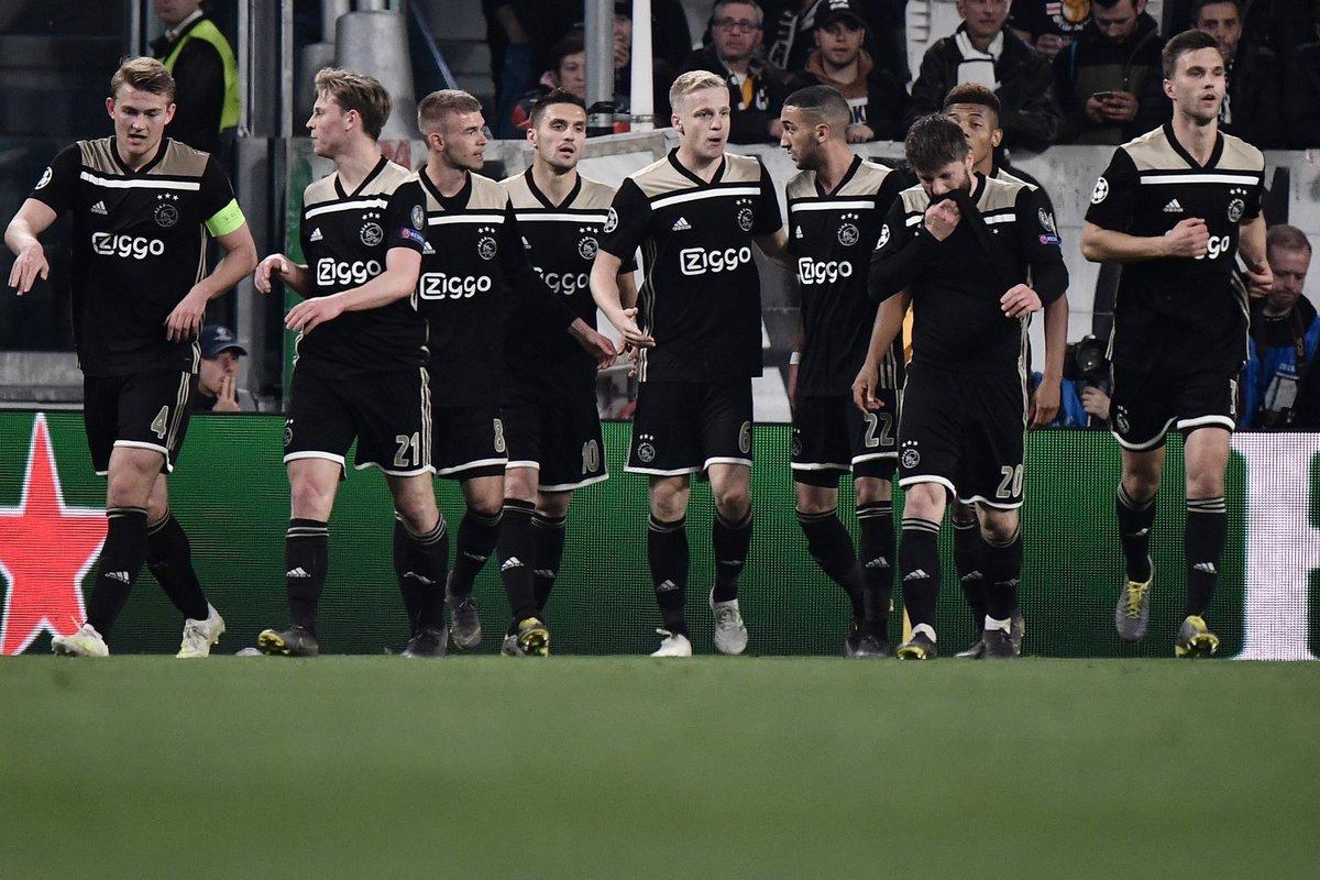 أياكس أمستردام يفجر المفاجأة ويقصي يوفنتوس من دوري الأبطال