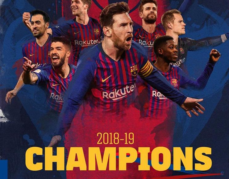 رسمياً … برشلونة بطلاً للدوري الإسباني للمرة الـ26 في تاريخه