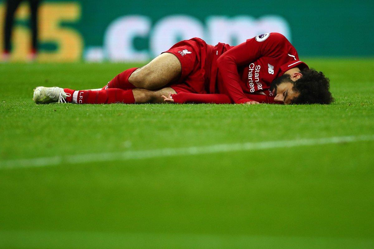 رسمياً … الإصابة تبعد محمد صلاح عن مواجهة برشلونة في دوري الأبطال