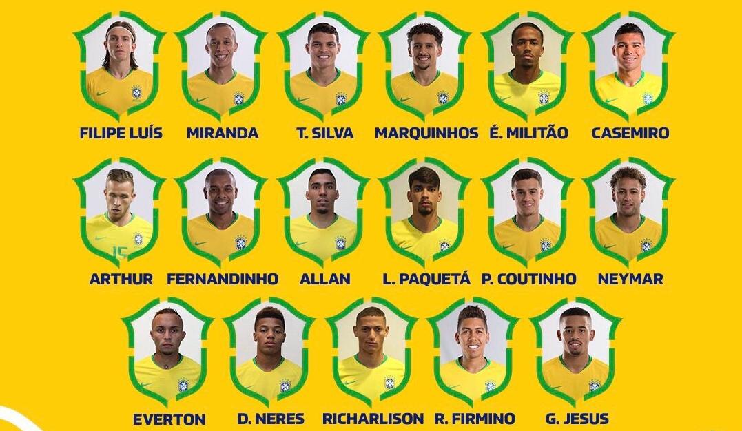 رسمياً … قائمة منتخب البرازيل النهائية لكوبا أمريكا 2019
