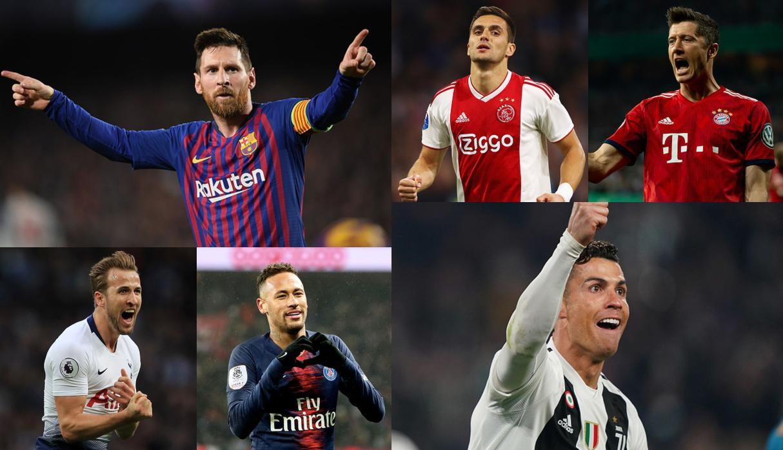 ترتيب هدافي دوري الأبطال هذا الموسم 2018/2019