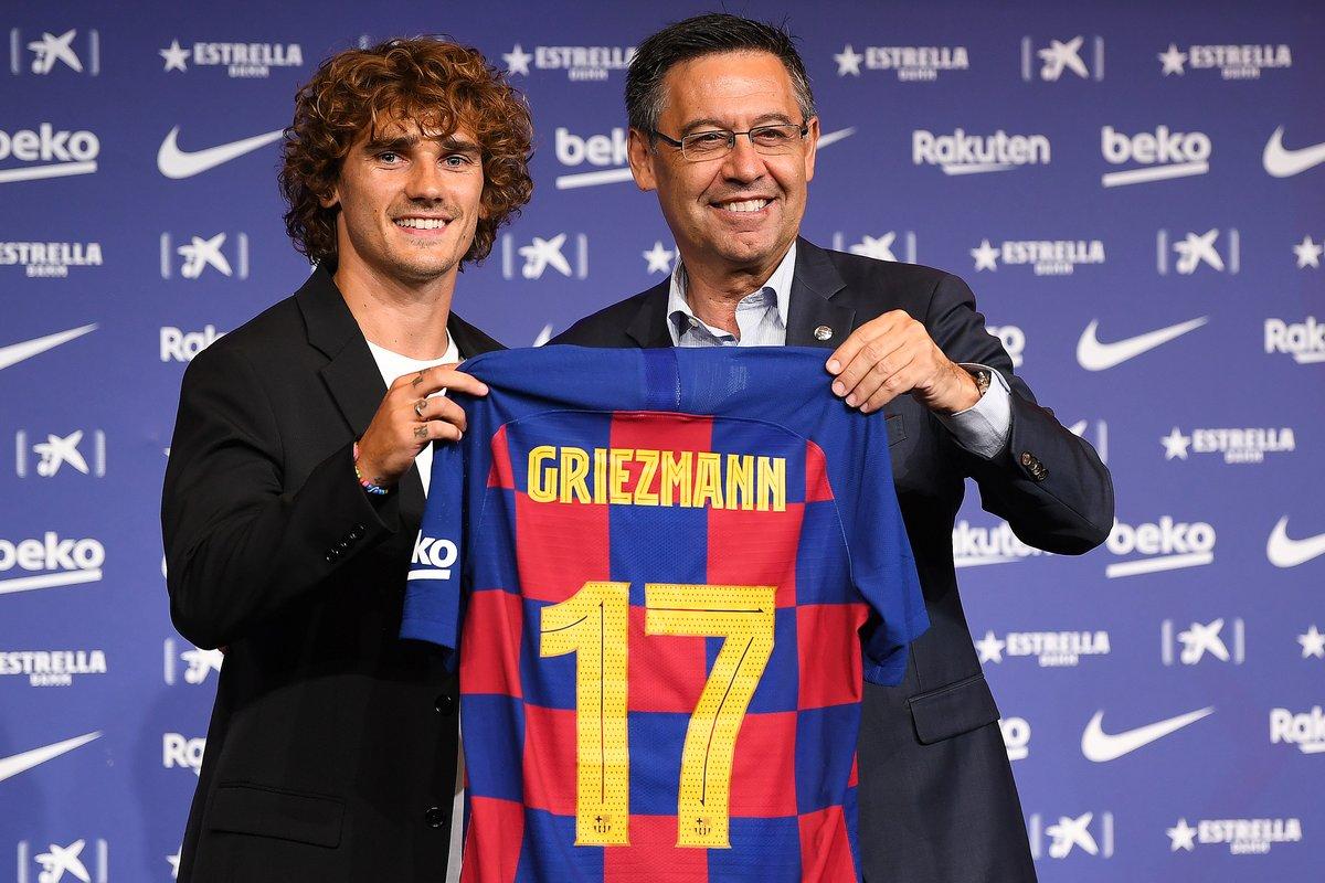 رسمياً … جريزمان يختار رقم قميصه مع برشلونة