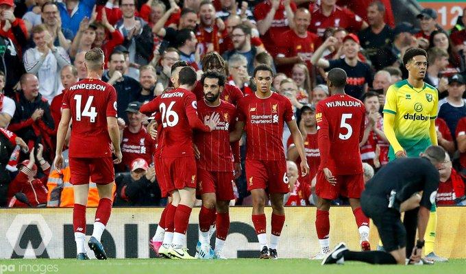ليفربول يقسو على نوريتش سيتي في افتتاحية الدوري الإنجليزي
