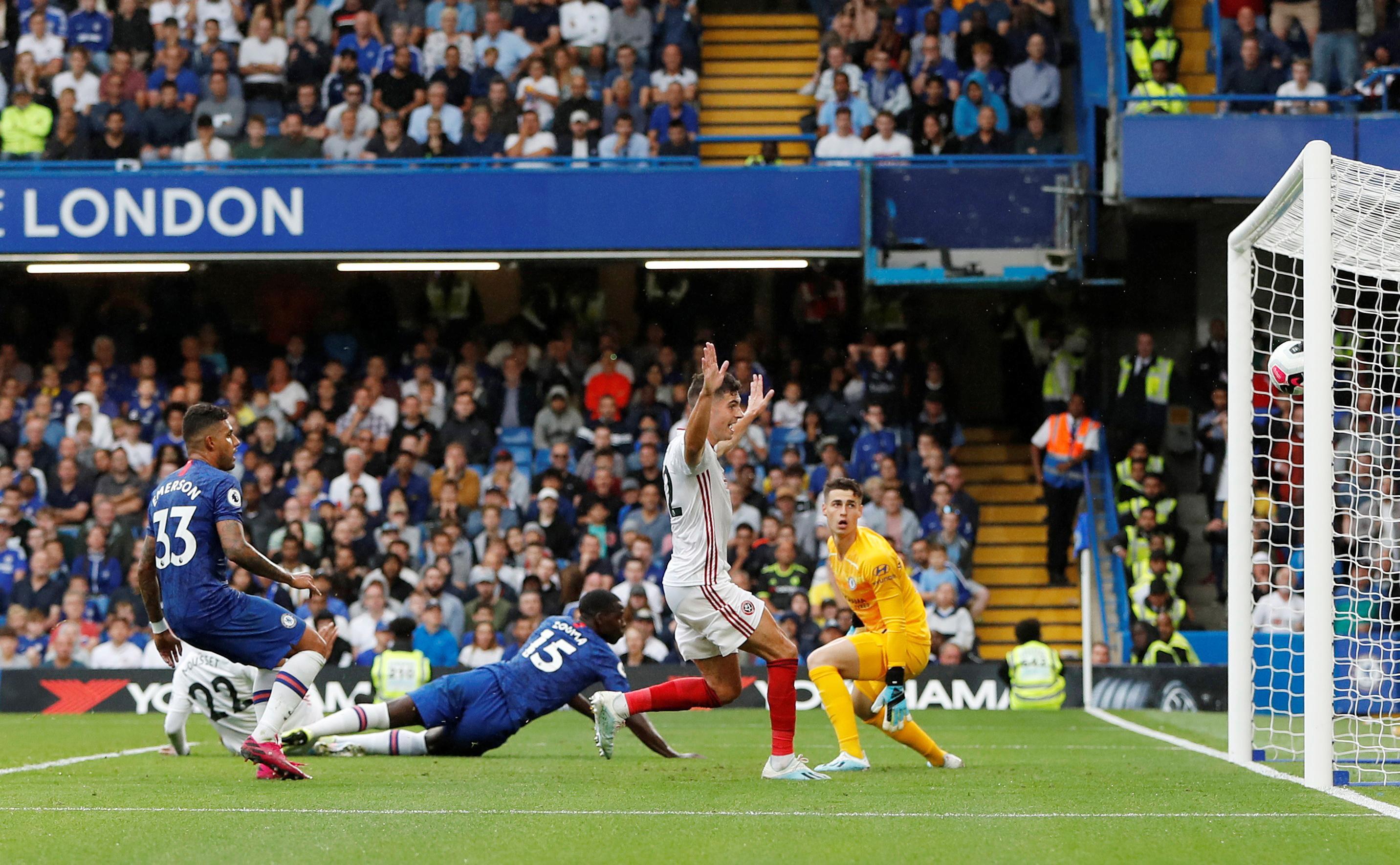 شيفيلد يونايتد يجبر تشيلسي على التعادل في الدوري الإنجليزي
