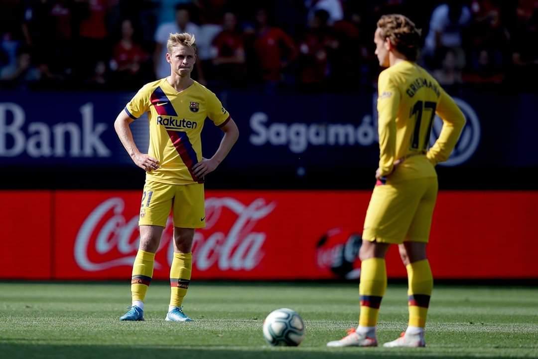 برشلونة يتعادل مع أوساسونا في الدوري الإسباني