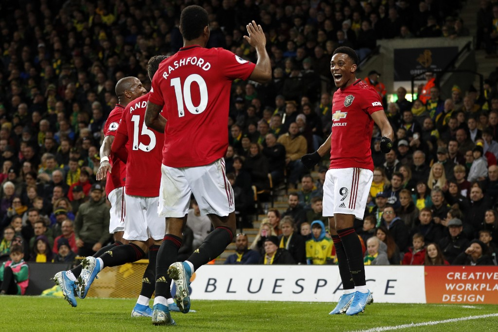 مانشستر يونايتد يستعيد توازنه بفوز ثمين على نوريتش سيتي