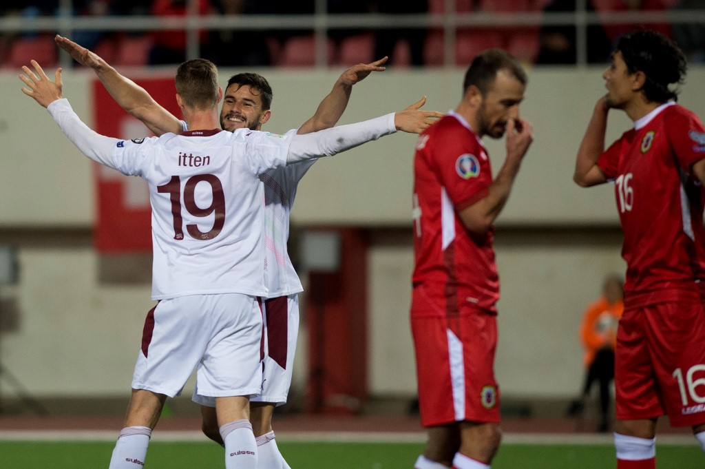 سويسرا تهزم جبل طارق وتتأهل إلى نهائيات يورو 2020