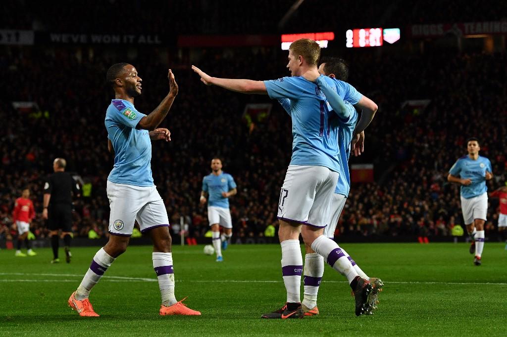 مانشستر سيتي يهزم مانشستر يونايتد في نصف نهائي كأس الرابطة