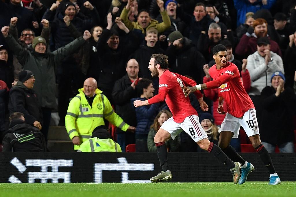 مانشستر يونايتد يتغلب علىى ولفرهامبتون في كأس الاتحاد