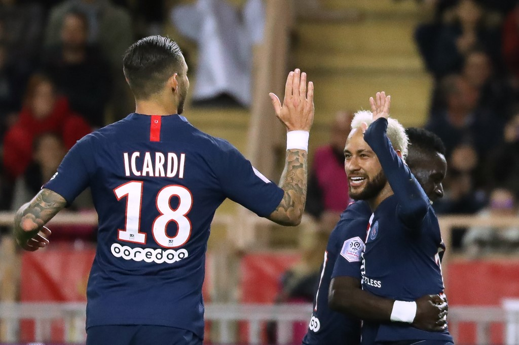 باريس سان جيرمان يضرب موناكو برباعية في الدوري الفرنسي