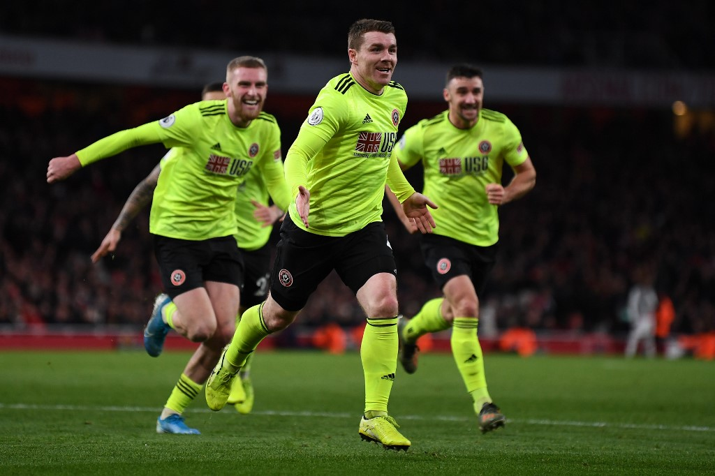 شيفيلد يونايتد يجبر أرسنال على التعادل في الدوري الإنجليزي